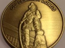 AFFM Ol' Leather Lungs Challenge Coin